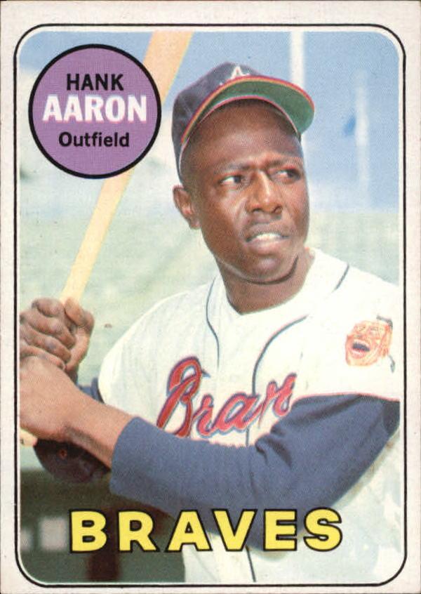 1969 Topps #100 Hank Aaron