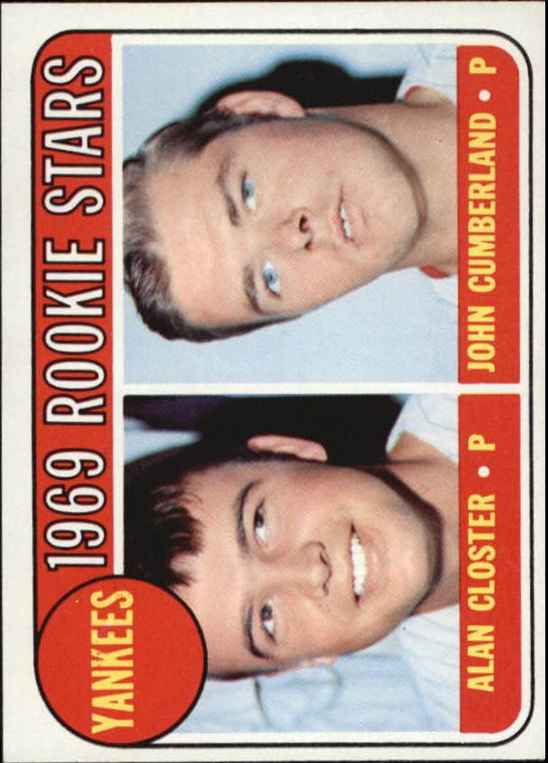 1969 Topps #114 Rookie Stars/Alan Closter/John Cumberland RC