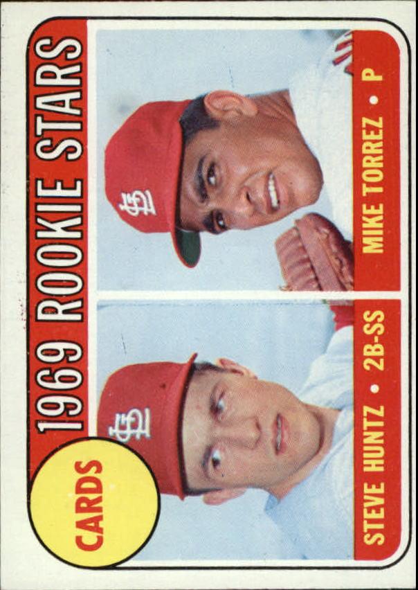 1969 Topps #136 Rookie Stars/Steve Huntz RC/Mike Torrez