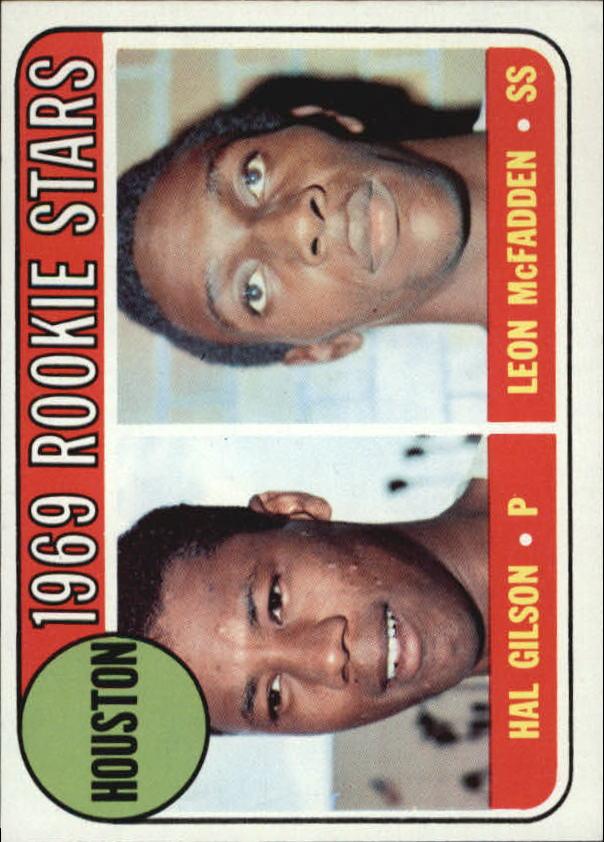 1969 Topps #156 Rookie Stars/Hal Gilson/Leon McFadden RC