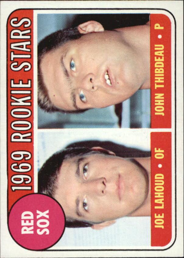 1969 Topps #189 Rookie Stars/Joe Lahoud RC/John Thibodeau RC