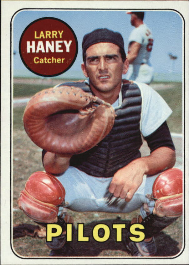 1969 Topps #209 Larry Haney UER/Reverse negative