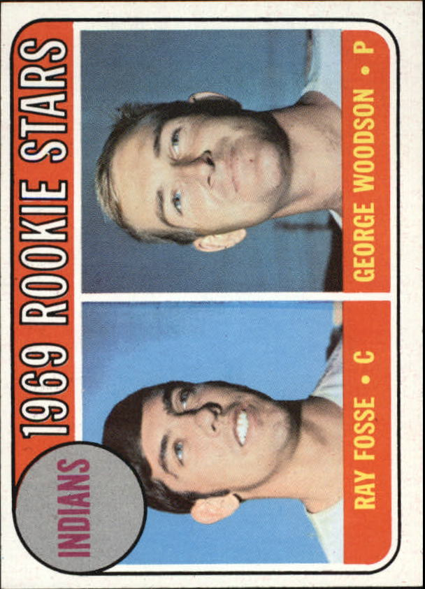 1969 Topps #244 Rookie Stars/Ray Fosse RC/George Woodson RC