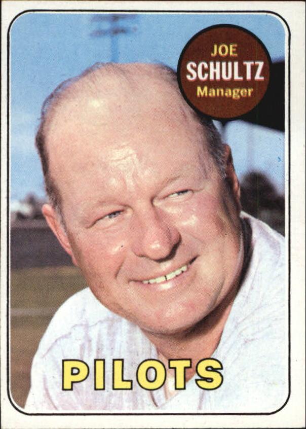1969 Topps #254 Joe Schultz MG RC