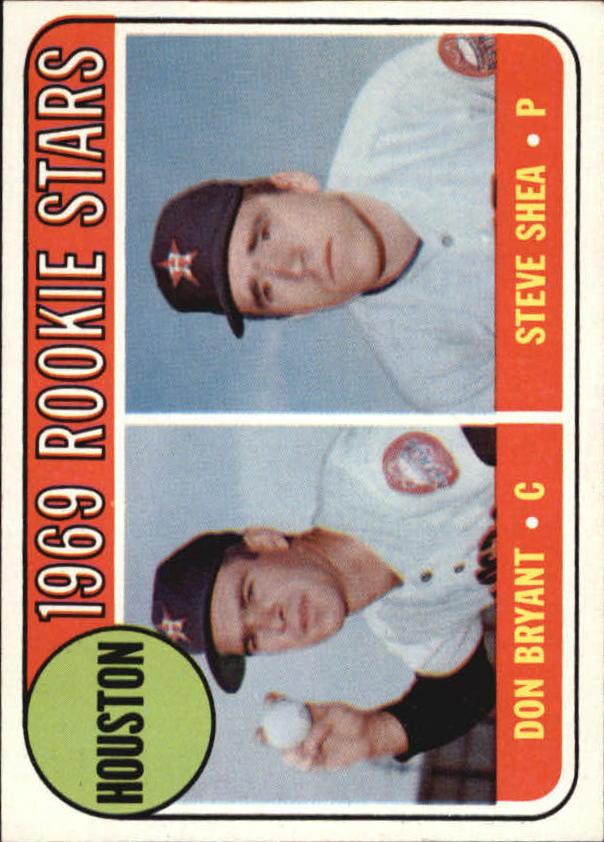 1969 Topps #499 Rookie Stars/Don Bryant RC/Steve Shea RC