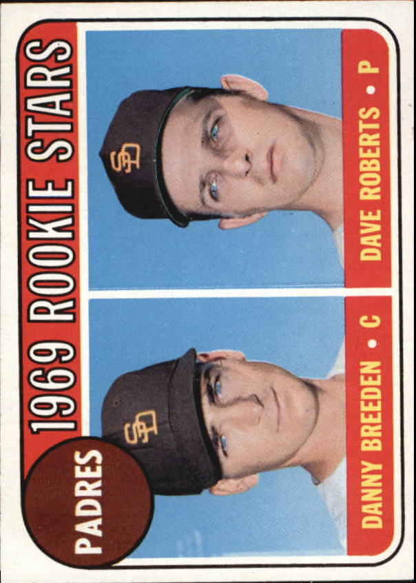 1969 Topps #536 Rookie Stars/Danny Breeden RC/Dave Roberts RC