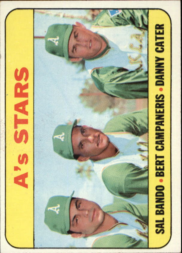 1969 Topps #556 A's Stars/Sal Bando/Bert Campaneris/Danny Cater