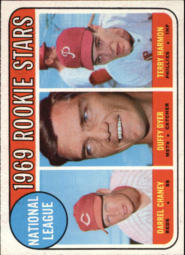 1969 Topps #624 Rookie Stars/Darrel Chaney RC/Duffy Dyer RC/Terry Harmon RC
