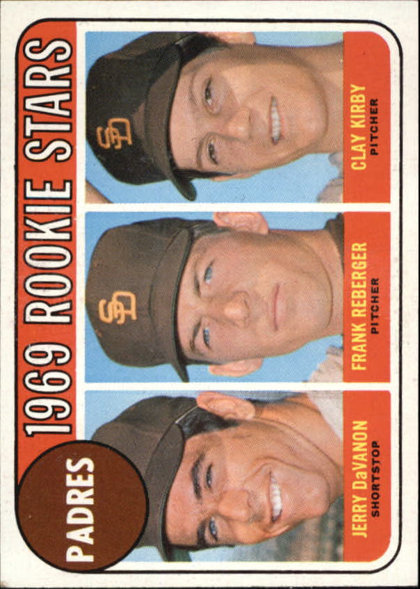 1969 Topps #637 Rookie Stars/Jerry DaVanon RC/Frank Reberger RC/Clay Kirby RC
