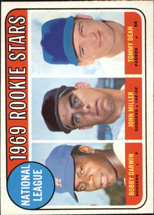 1969 Topps #641 Rookie Stars/Bobby Darwin RC/John Miller/Tommy Dean RC