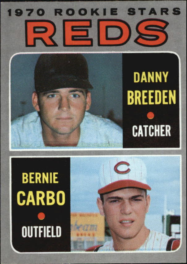 1970 Topps #36 Rookie Stars/Danny Breeden/Bernie Carbo RC