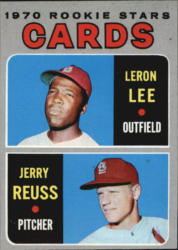 1970 Topps #96 Rookie Stars/Leron Lee RC/Jerry Reuss RC