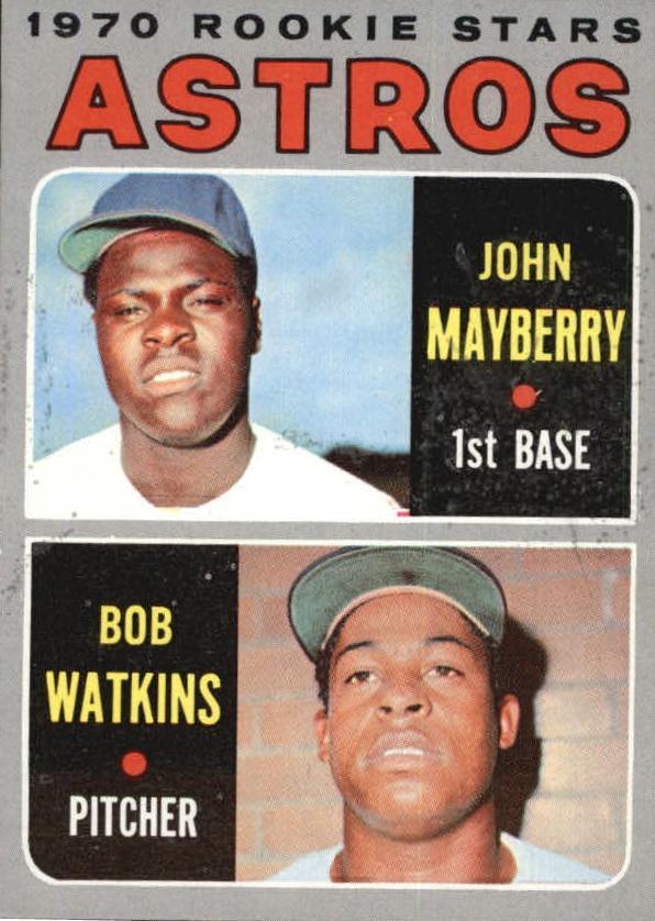 1970 Topps #227 Rookie Stars/John Mayberry RC/Bob Watkins RC