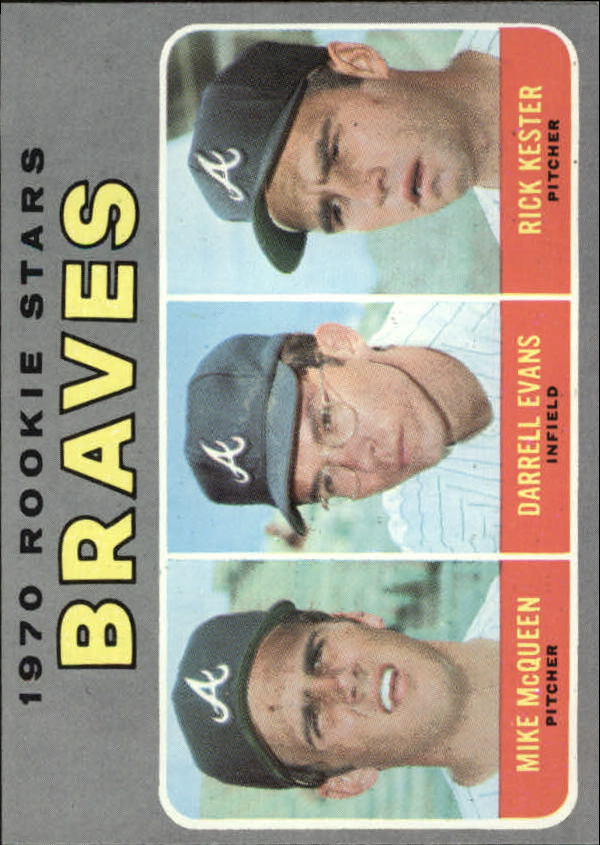1970 Topps #621 Rookie Stars/Mike McQueen RC/Darrell Evans RC/Rick Kester RC