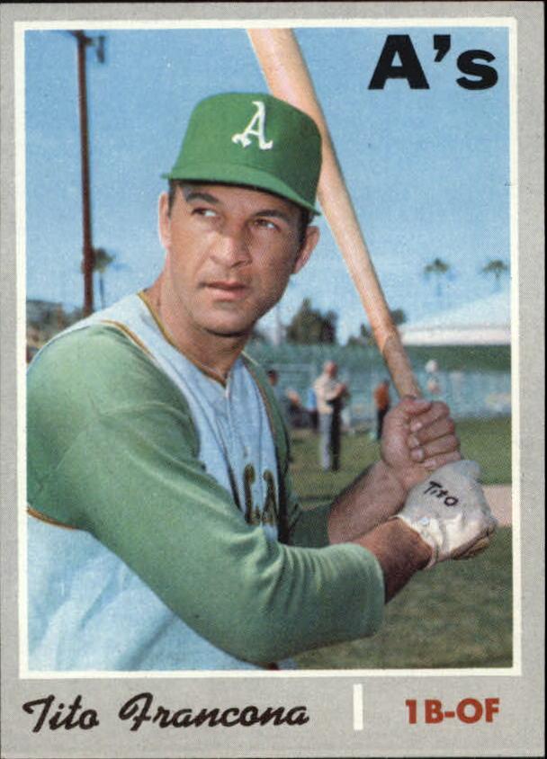1970 Topps #663 Tito Francona