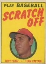 1970 Topps Scratchoffs #16 Tony Perez