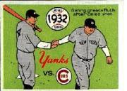 1970 Fleer Laughlin World Series Blue Backs #29 1932 Yankees/Cubs/(Babe Ruth/and Lou Gehrig)
