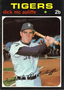 1971 Topps #3 Dick McAuliffe