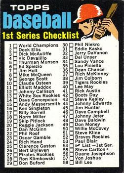 1971 Topps #54 Checklist 1