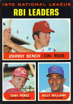 1971 Topps #64 NL RBI Leaders/Johnny Bench/Tony Perez/Billy Williams
