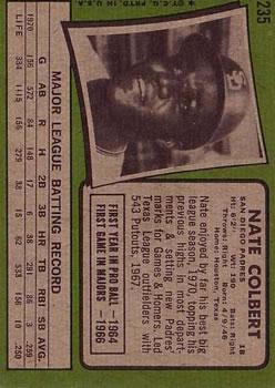 1971 Topps #235 Nate Colbert back image