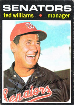1971 Topps #380 Ted Williams MG