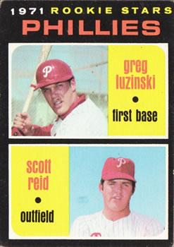 1971 Topps #439 Rookie Stars/Greg Luzinski RC/Scott Reid