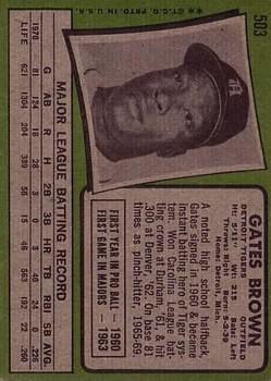 1971 Topps #503 Gates Brown back image