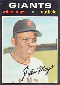 1971 Topps #600 Willie Mays