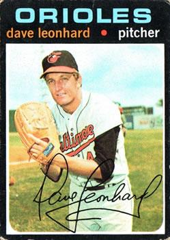 1971 Topps #716 Dave Leonhard