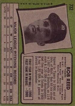 1971 Topps #732 Bob Reed back image