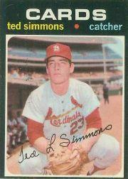 1971 O-Pee-Chee #117 Ted Simmons RC