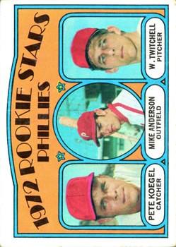 1972 Topps #14 Rookie Stars/Pete Koegel/Mike Anderson RC/Wayne Twitchell