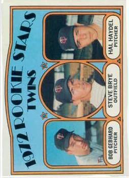 1972 Topps #28 Rookie Stars/Bob Gebhard RC/Steve Brye/Hal Haydel