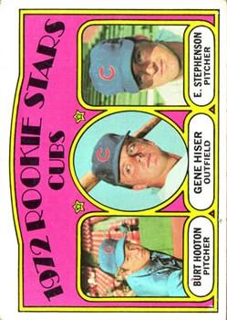 1972 Topps #61 Rookie Stars/Burt Hooton RC/Gene Hiser RC/Earl Stephenson RC