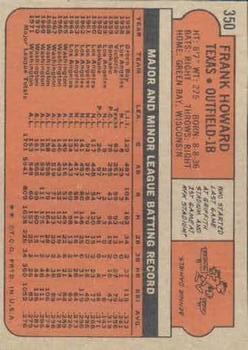 1972 Topps #350 Frank Howard back image