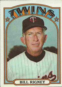 1972 Topps #389 Bill Rigney MG