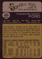 1973 Topps #299 Ted Ford back image