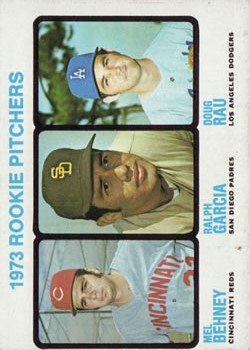 1973 Topps #602 Rookie Pitchers/Mel Behney/Ralph Garcia RC/Doug Rau RC