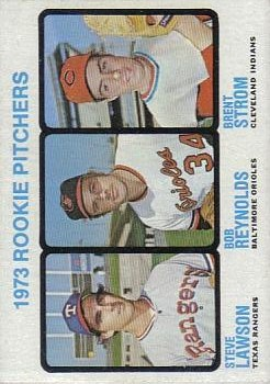 1973 Topps #612 Rookie Pitchers/Steve Lawson RC/Bob Reynolds/Brent Strom RC