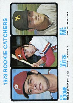 1973 Topps #613 Rookie Catchers/Bob Boone RC/Skip Jutze RC/Mike Ivie