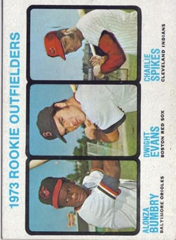 1973 Topps #614 Rookie Outfielders/Al Bumbry RC/Dwight Evans RC/Charlie Spikes RC