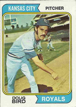 1974 Topps #17 Doug Bird RC