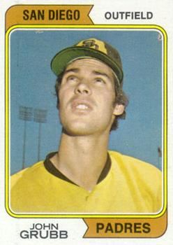 1974 Topps #32A Johnny Grubb SD RC