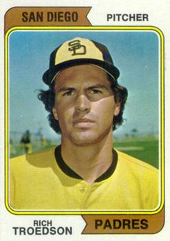 1974 Topps #77A Rich Troedson SD RC