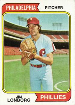 1974 Topps #342 Jim Lonborg