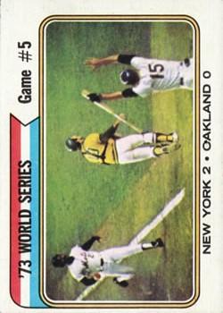 1974 Topps #476 World Series Game 5/Cleon Jones