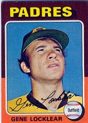 1975 Topps #13 Gene Locklear RC