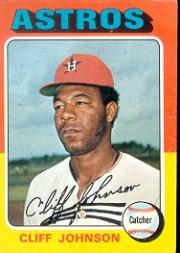 1975 Topps #143 Cliff Johnson RC