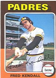 1975 Topps #332 Fred Kendall
